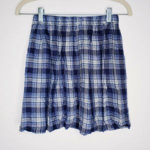 Hollister  Blue Plaid Flannel Skirt